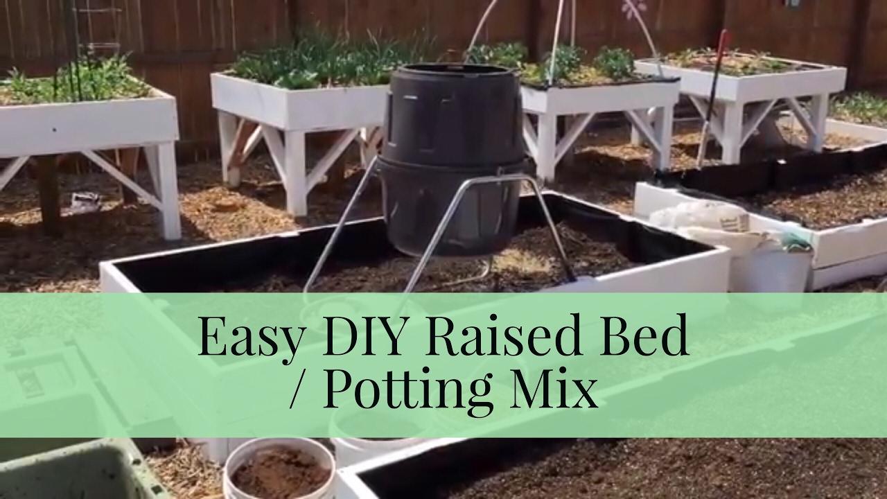 raised garden bed soil mix