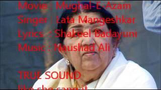lata mangeshkar mughal e azam live true sound naushad ali shakeel badayuni