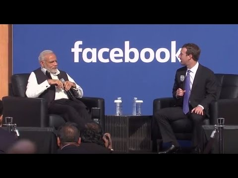 Townhall Q&A (Hindi) with PM Modi and Mark Zuckerberg at Facebook HQ in San Jose