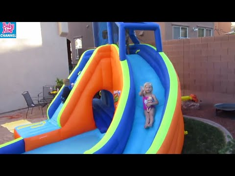 Thumbnail: BABY ALIVE Swimming in Banzai Sidewinder Falls POOL DAY with Maddy + Elsa + brothers