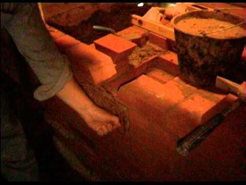 видео: 2012 08 13 22 32 26 Кладка банной печи