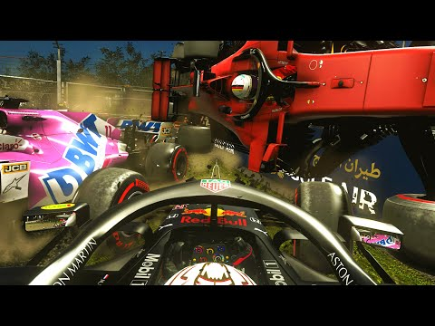 The Bahrain Grand Prix but there's NO GRIP AT ALL! | F1 Game Experiment 0% Grip |
