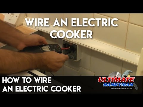 how to connect up an electric cooker