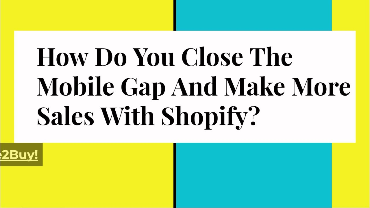The Mobile Gap – problem or opportunity?
