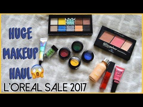 HUGE MAKEUP HAUL | L'oreal Sale 2017 thumbnail