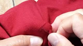 Как аккуратно зашить дырку в одежде потайным швом