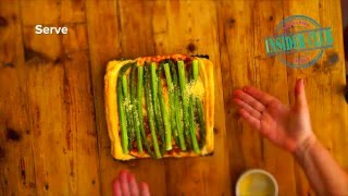 Turbo cheesey Asparagus tart
