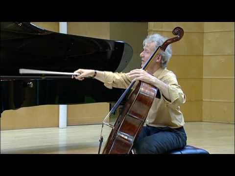 Part 1/8,  Masterclass with Professor Johannes Goritzki, Brahms Sonate in e minor Op. 38,