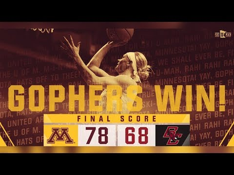 Highlights: Gophers Take the Win Against Boston College