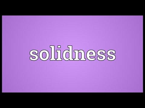 Header of solidness