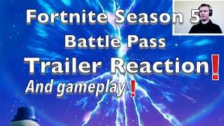 Fortnite Battle season Pass 5 Trailer (2018) reaction and Gameplay