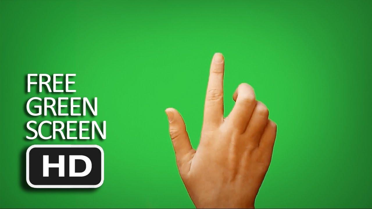 free green screen finger touching screen compilation youtube