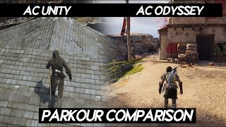 Assassin's Creed Odyssey PARKOUR COMPARISON VS AC Unity | AC ODYSSEY WORST PARKOUR IN SERIES