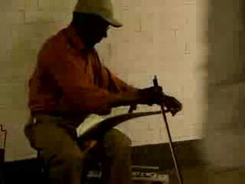 Wonderfully haunting sound of saw rubbed with violin bow