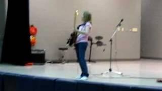 12 year old GIRL guitarist 'Hot For Teacher' - Talent Show