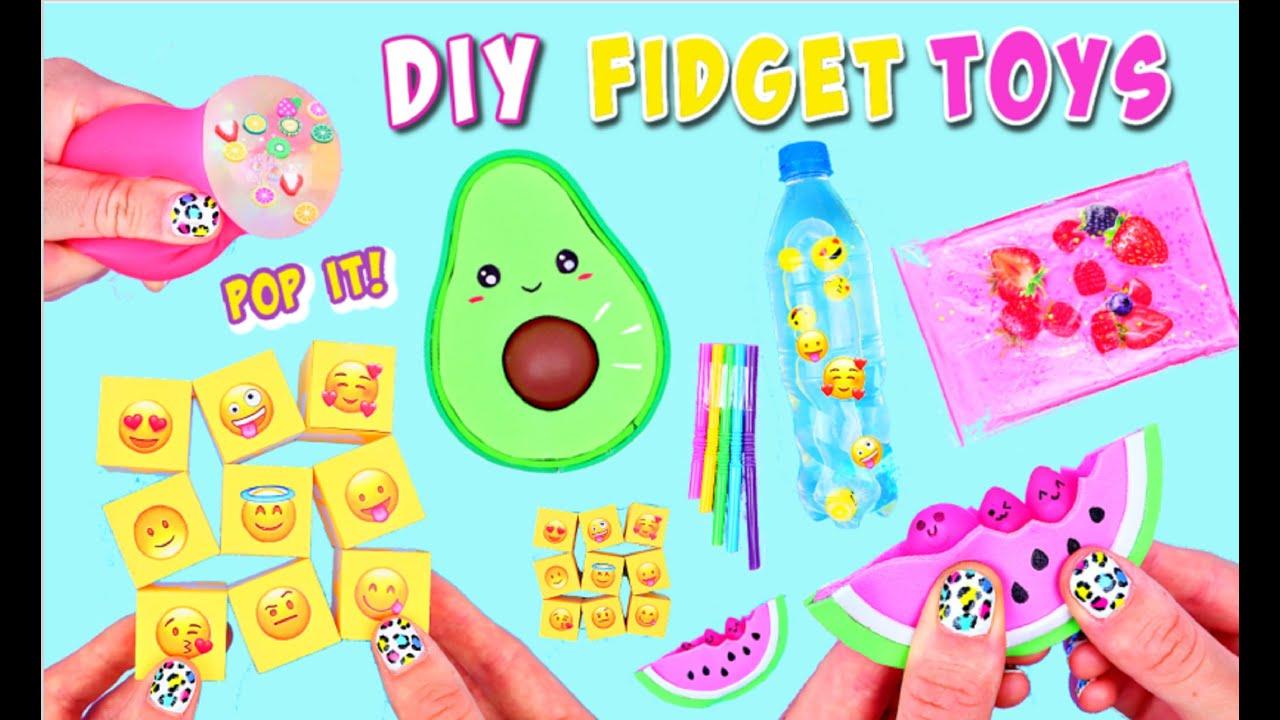 7 DIY FIDGET TOYS IDEAS - Viral TikTok Fidget Toys - Avocado POP IT & more!