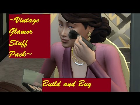 The Sims 4: Vintage Glamor Stuff Pack// Build and Buy Review