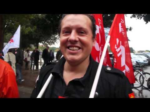 Toulouse : Comité d'accueil CGT pour les congressistes du Parti Socialiste