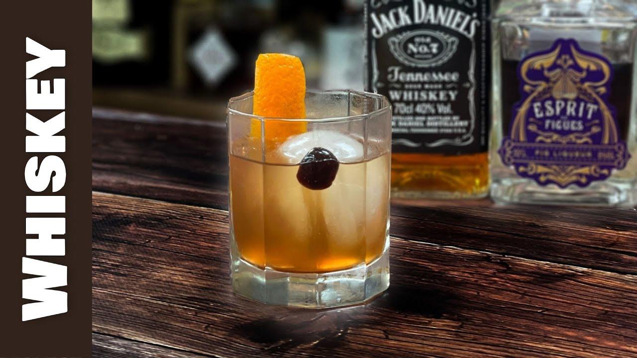 Jack Daniels Cocktails; FIG & ORANGE Old Fashioned