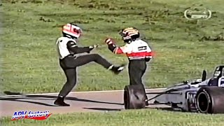 Sergio Paese and Oriol Servia's skirmish in Indy Lights accident