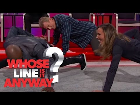 Lolo Jones and Ryan Stiles Work Out - Whose Line Is It Anyway? US