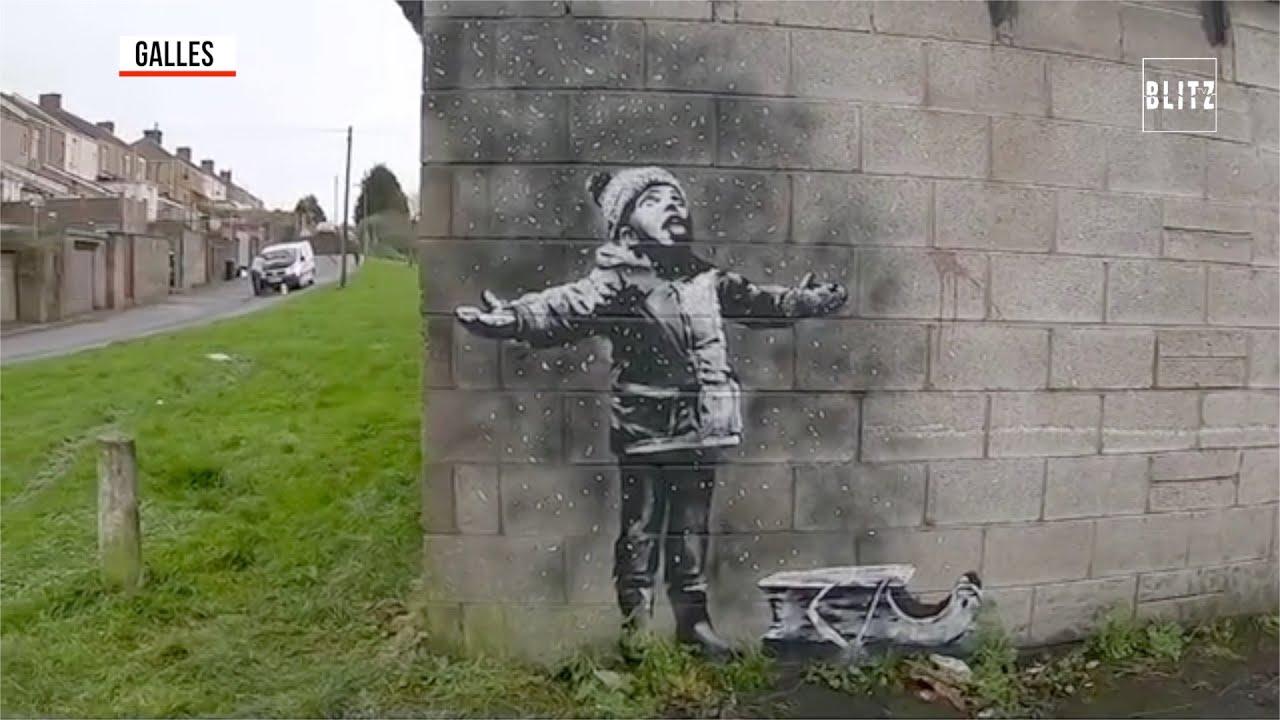 Galles, nuova provocazione di Banksy: sembra neve ma è smog