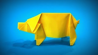 Origami Animals | How to Make a Paper Pig (Paper Animals) DIY | Easy Origami ART | Paper Crafts