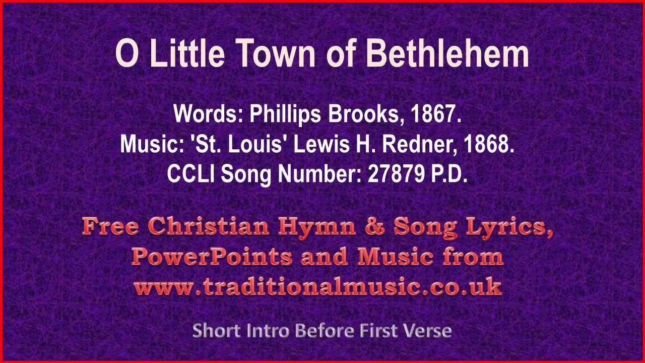 O Little Town Of Bethlehem(Forest Green- viola section) - Christmas Carols Lyrics & Music - YouTube