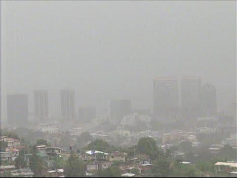 Massive Saharan dust aerosol blanket