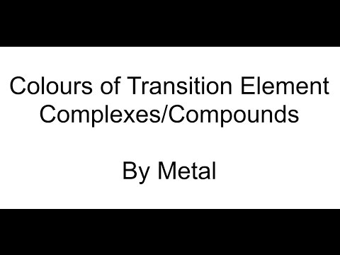 Transition Element Colours by Metal