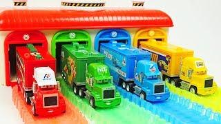 APRENDE los COLORES con Cars Magic McQueen Amigos para niños  - Videos de Aprendizaje para niños