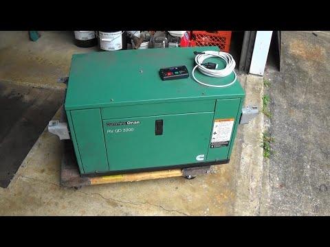 miniature-diesel-generator-diagnose,-repair,-test-onan-rv-qd3200