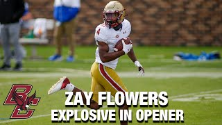 Boston College WR Zay Flowers Is Explosive In Opener