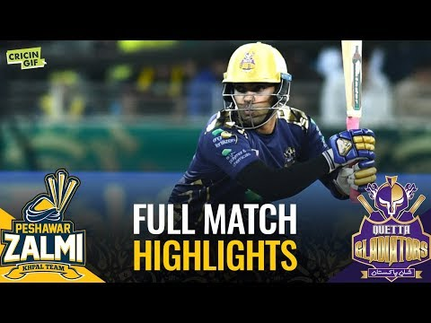 PSL 2019 Match 3: Peshawar Zalmi vs Quetta Gladiators | Full Match Highlights
