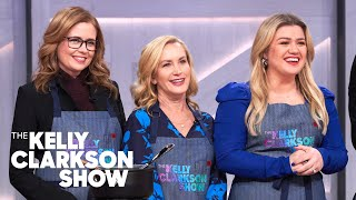 Kelly Can't Stop Giggling While Making Italian Food With Jenna Fischer, Angela Kinsey & Scott Conant
