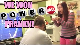WE WON 1.5 BILLION POWERBALL LOTTERY JACKPOT! (Prank)