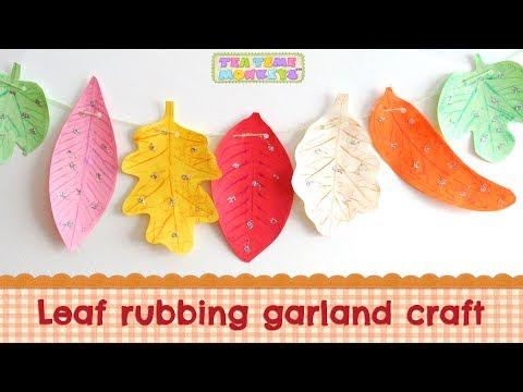 leaf-rubbing-garland---easy-autumn-craft-for-kids!