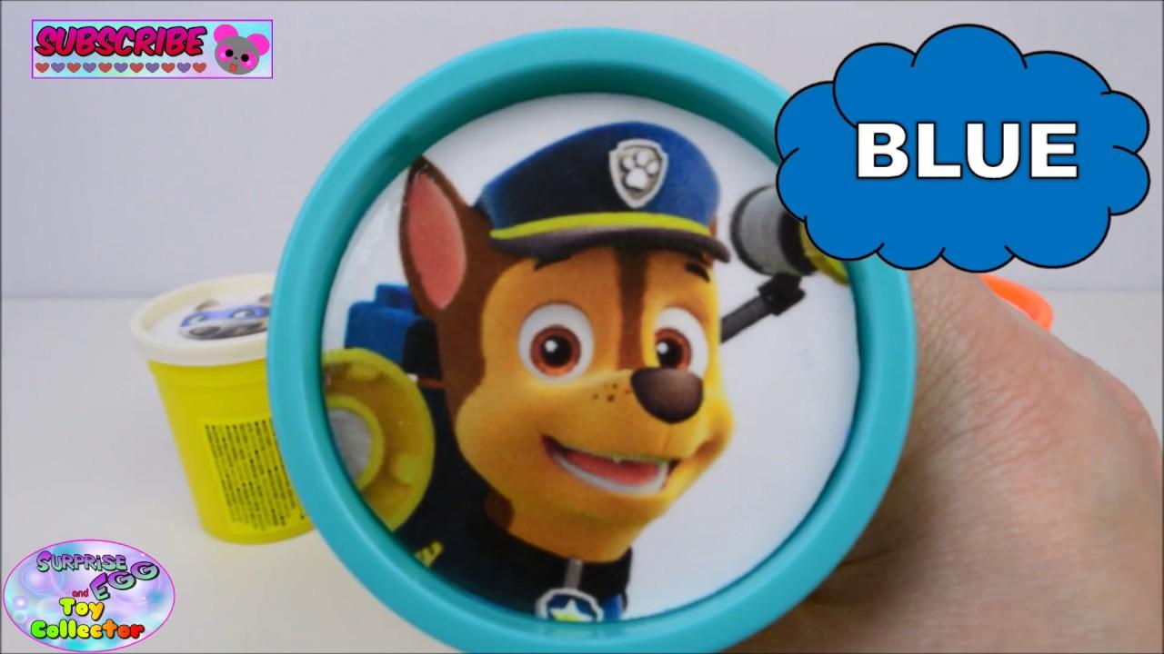 learn colors nick jr paw patrol toys surprises everest