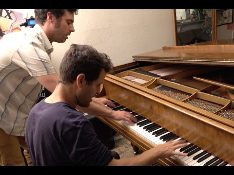 Scott Joplin - The Entertainer Improvisation with 4 hands - Benmo + Dotan