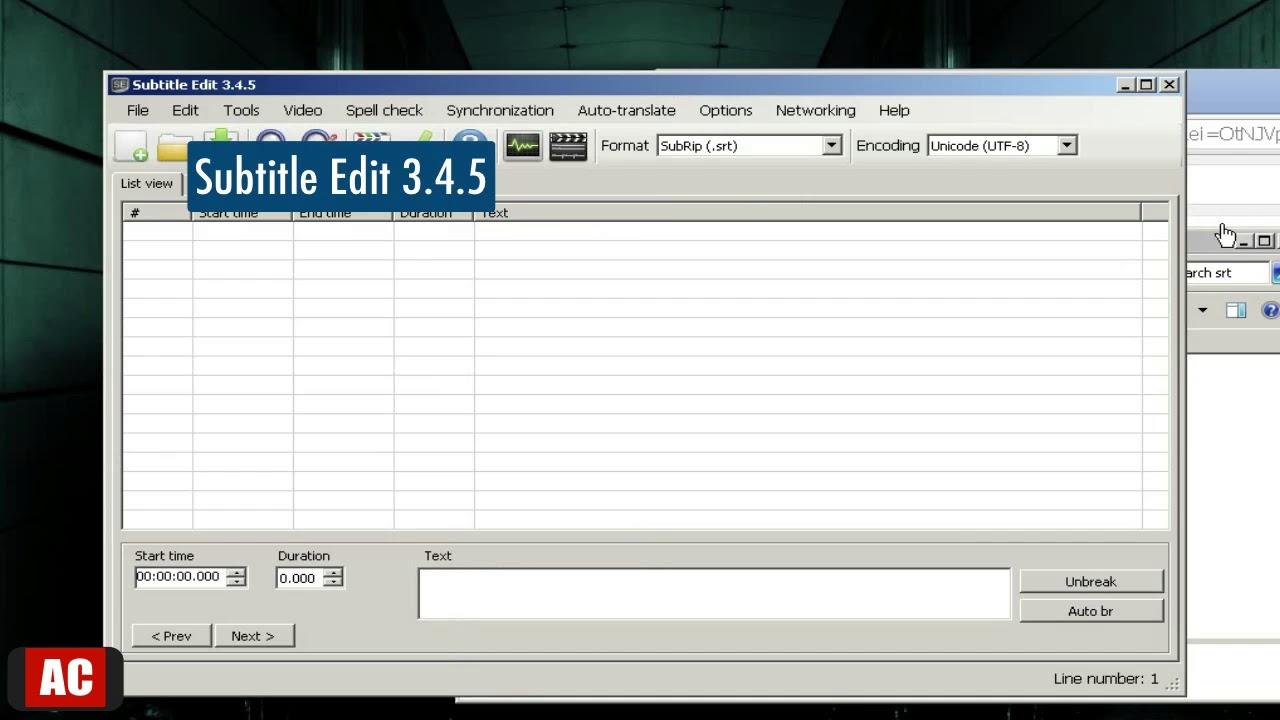 Convert Subtitle  SRT to WebVTT on Windows-Subtitle Edit