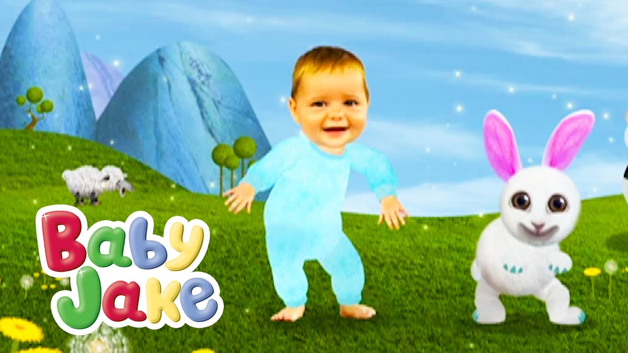 Baby Jake Plays Chase With Nibbles Rabbit YouTube