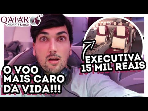 RICO NO AVIÃO! VOANDO BUSINESS na CLASSE EXCUTIVA do BOEING 787 DREAMLINER QATAR AIRWAYS