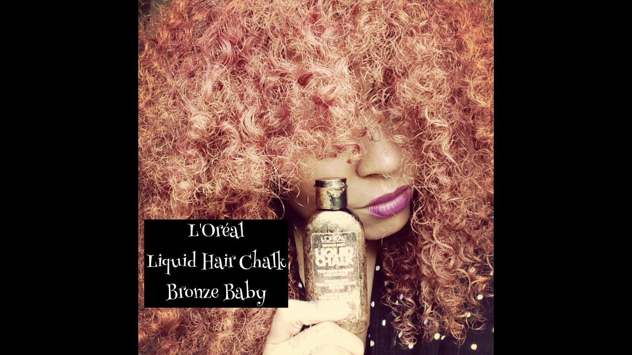Liquid Hair Chalk On Natural Hair