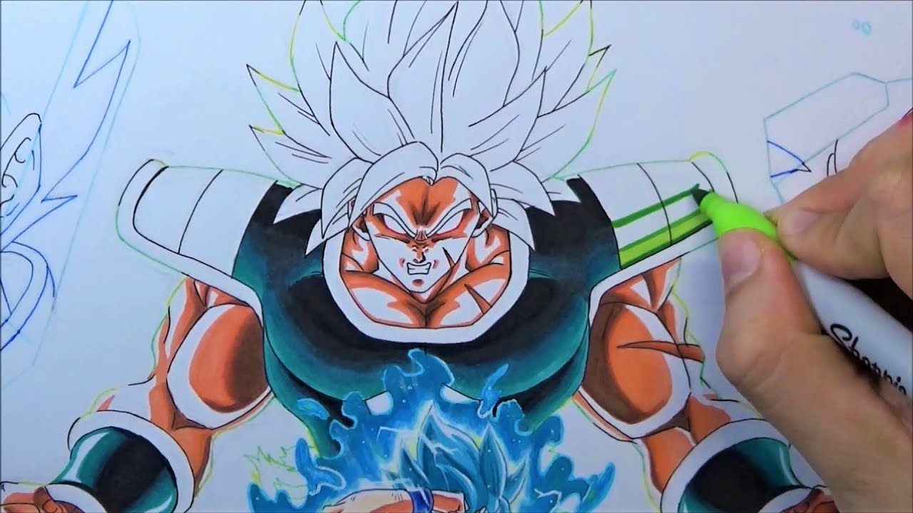 Como Dibujar A BROLY Super Saiyan Dragon Ball Super