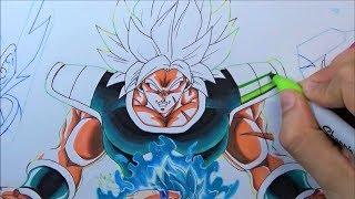 Como Dibujar a BROLY Super Saiyan Dragon Ball Super película 2019| Drawing Goku vs New Broly DBS