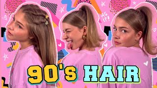 90's inspired hairstyles! (quick & easy)
