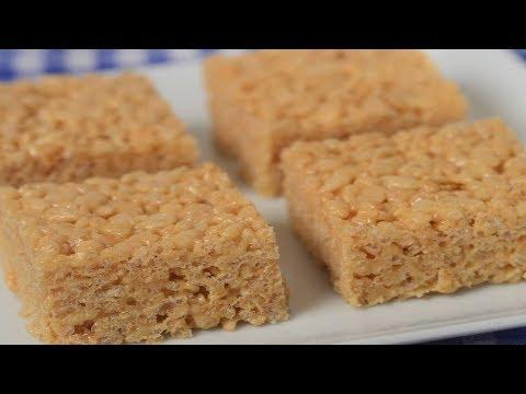 peanut-butter-rice-krispies-treats-recipe-demonstration---joyofbaking.com