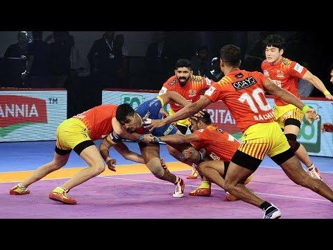 Pro Kabaddi 2018 Highlights | Gujarat FortuneGiants vs UP Yoddha | Hindi