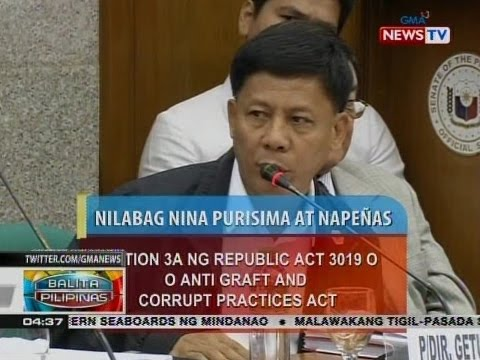Purisima at Napeñas, sinampahan ng kasong graft at usurption of public function ng ombudsman