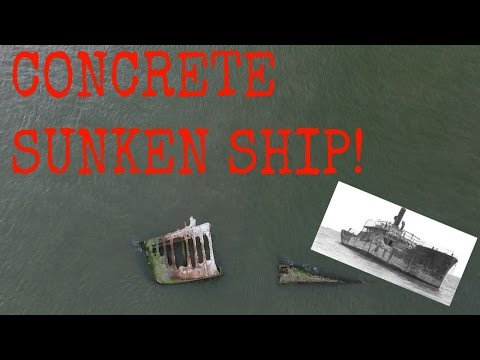 CONCRETE SUNKEN SHIP!